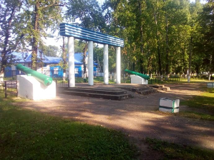 Пушки в ЦПКО села Амурзет